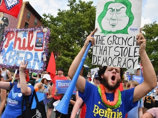 Bernie Sanders supporters fill DNC with booing