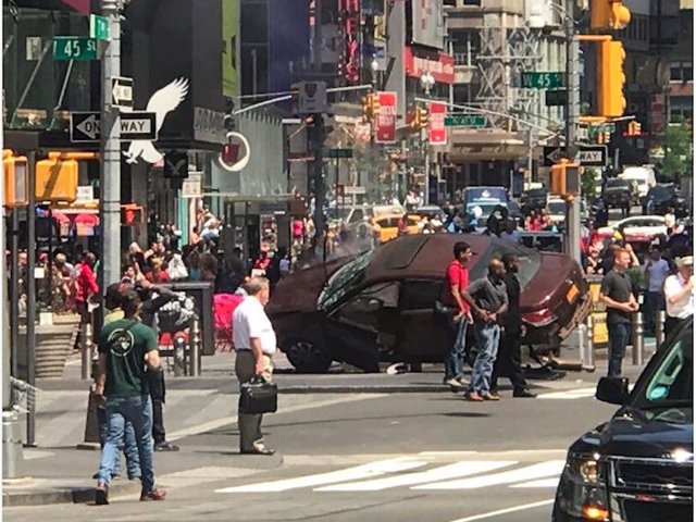 NYC- Car crashes into Times Square pedestrians