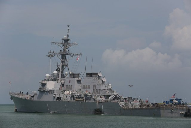 10 missing after US Navy ship and oil tanker collide off Singapore