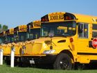 School Buses race for a fun night