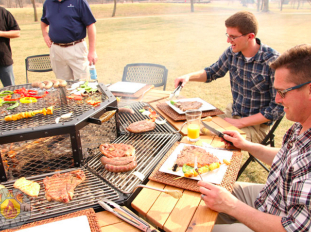 This Fire Pit Grill And Table Combo Is Every Man S Dream