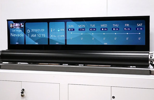 LG Display has made a 65-inch rollable OLED