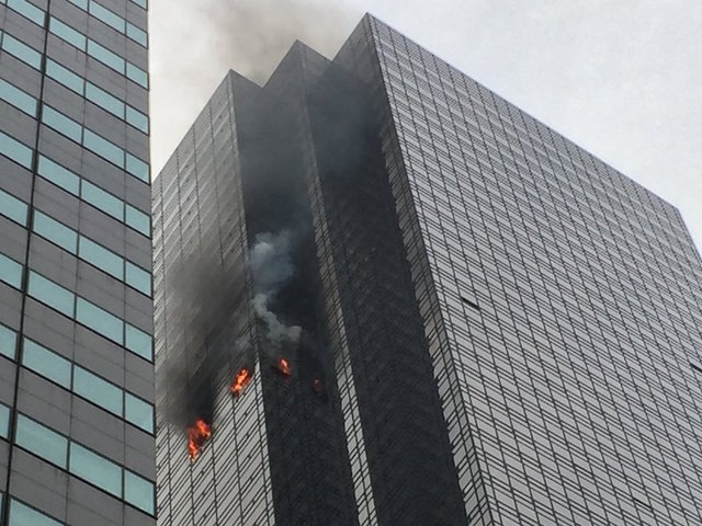 Fire in Trump Tower in Manhattan