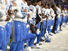 The NFL's new national anthem policy is on hold