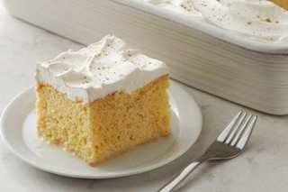 Eggnog tres leches is great for the holidays